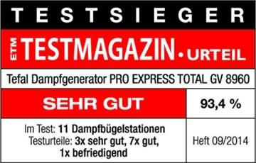 Tefal GV8960 Dampfgenerator -